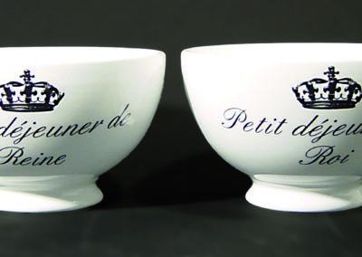 Porcelain bowls chromos printing