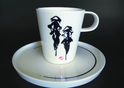 pair of tea cups porcelain