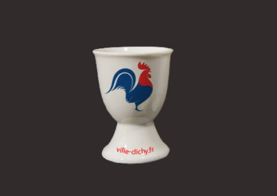 Porcelain eggcup decal