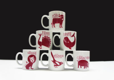 mug screen printed